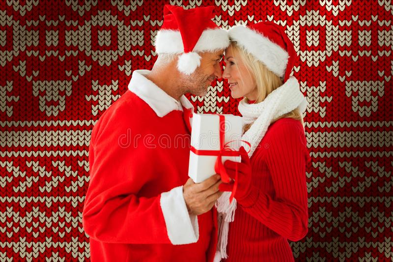 Złożony wizerunek świąteczna para obrazy stock