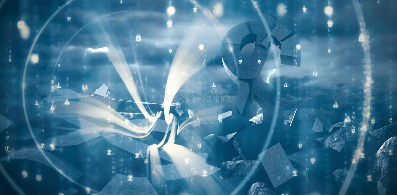 Złożony wizerunek abstrakcjonistyczny błękita wzór ilustracja wektor