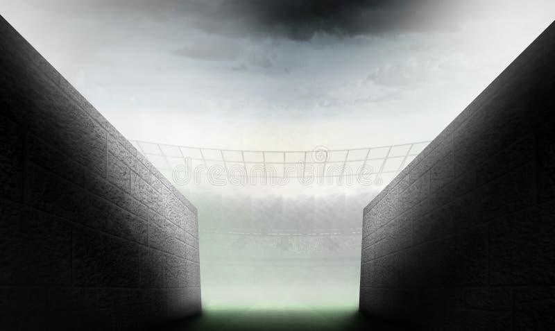 Złożony wizerunek arena tunel ilustracji