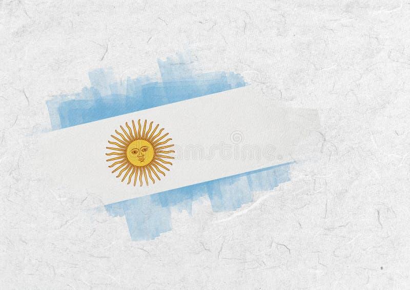 Złożony wizerunek Argentina flaga państowowa ilustracji