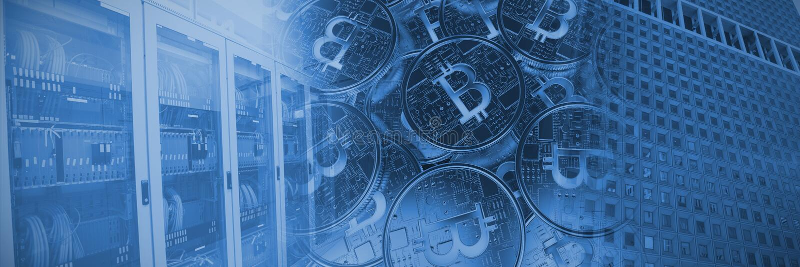 Złożony wizerunek bitcoin royalty ilustracja