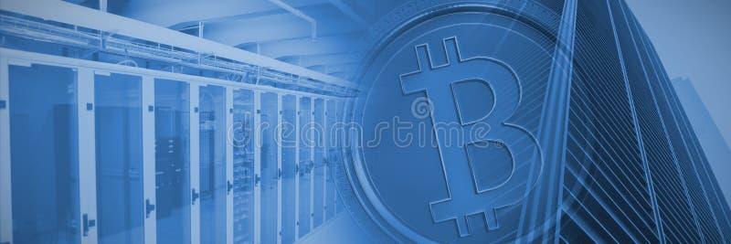Złożony wizerunek bitcoin ilustracja wektor