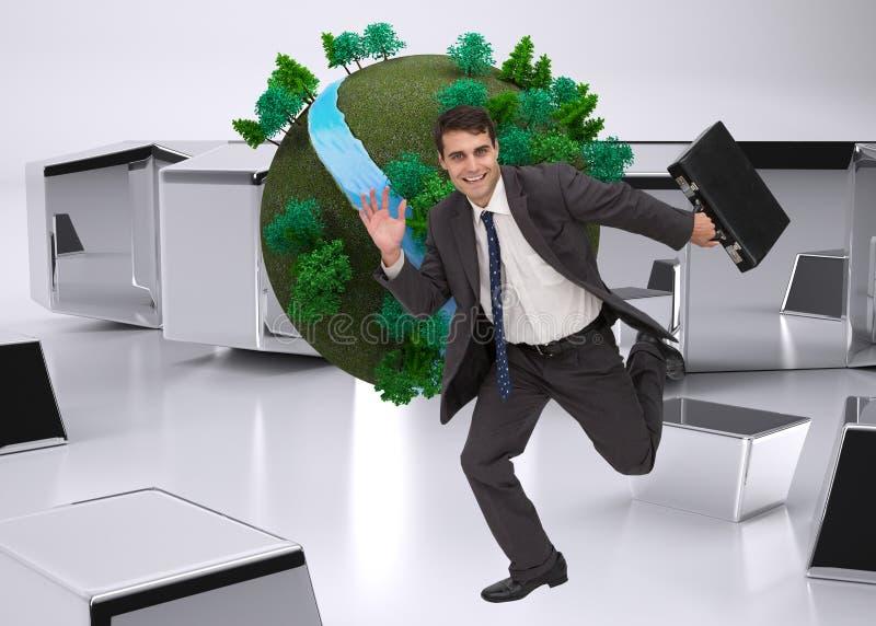 Złożony wizerunek biznesmen w hury fotografia stock