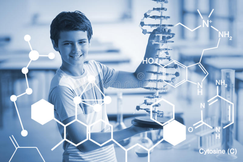 Złożony wizerunek cyfrowo wytwarzający wizerunek chemiczna struktura royalty ilustracja