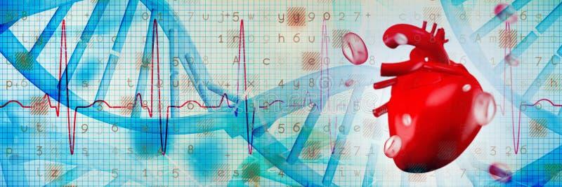 Złożony wizerunek cyfrowo wytwarzający wizerunek serce zdjęcie stock