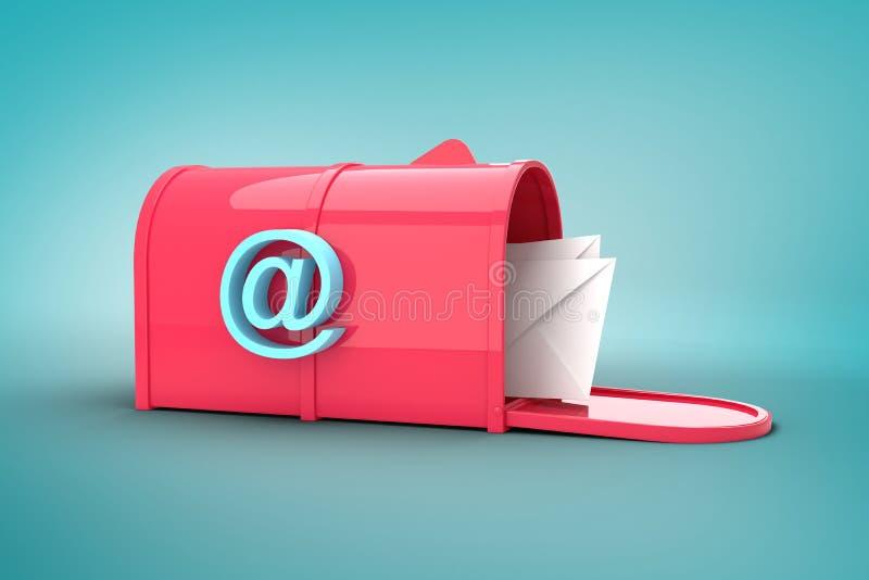 Złożony wizerunek czerwony emaila postbox royalty ilustracja