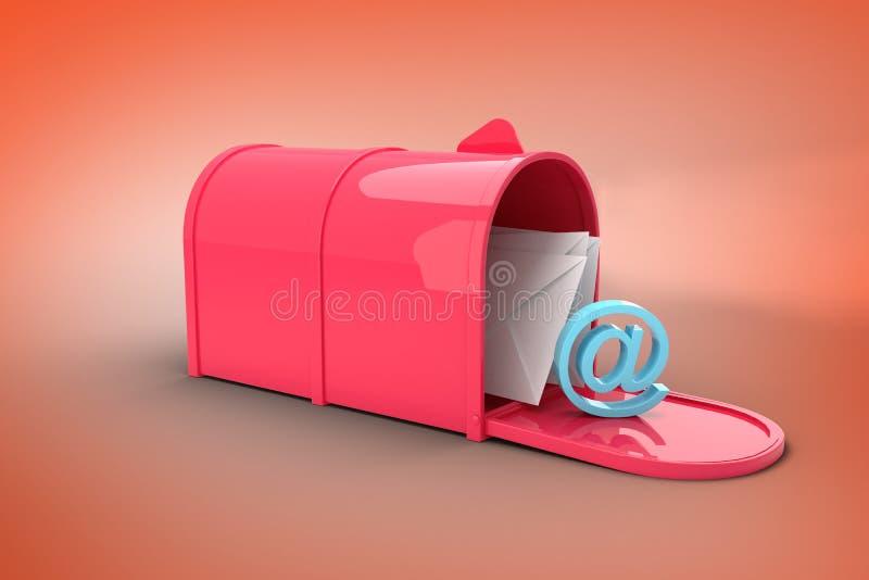 Złożony wizerunek czerwony emaila postbox ilustracji