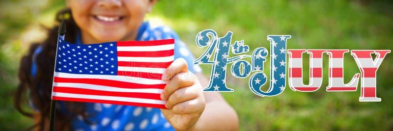Złożony wizerunek dzień niepodległości grafika obrazy stock