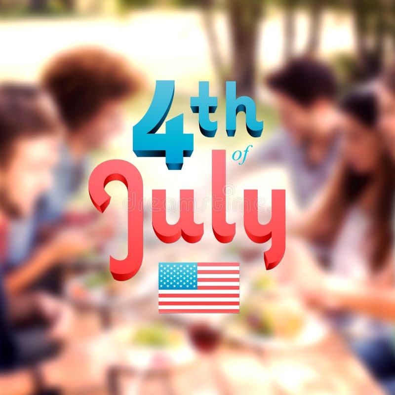 Złożony wizerunek dzień niepodległości grafika ilustracja wektor