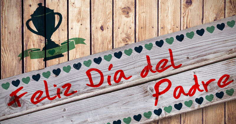 Złożony wizerunek Feliz Dia Del Padre royalty ilustracja