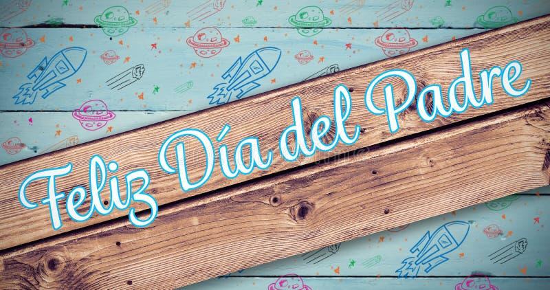 Złożony wizerunek Feliz Dia Del Padre ilustracja wektor