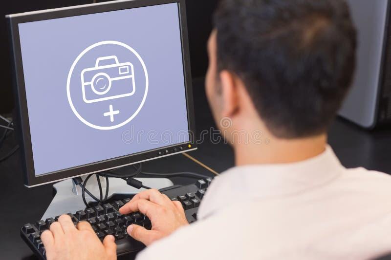 Złożony wizerunek fotografii apps ilustracja wektor