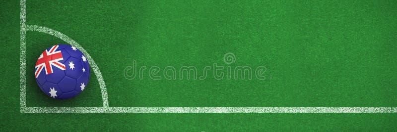 Złożony wizerunek futbol w Australia colours ilustracji
