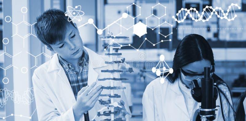 Złożony wizerunek ilustracja chemiczna struktura ilustracji