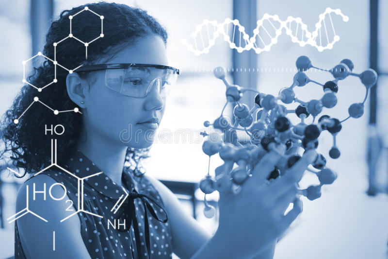 Złożony wizerunek ilustracja chemiczna struktura ilustracja wektor