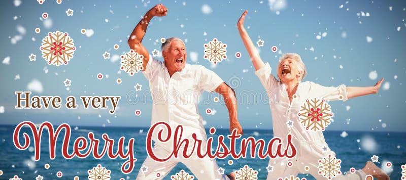 Złożony wizerunek kartka bożonarodzeniowa obrazy stock