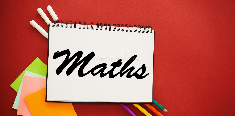 Złożony wizerunek maths tekst przeciw białemu tłu obraz royalty free
