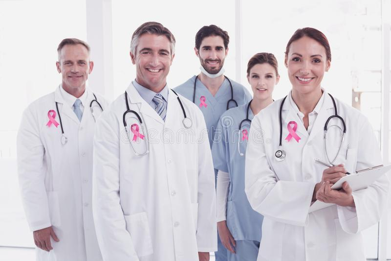 Złożony wizerunek nowotwór piersi świadomości faborek obrazy stock