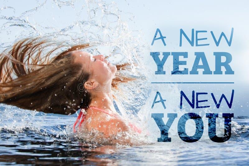 Złożony wizerunek nowy nowy rok ty zdjęcia stock