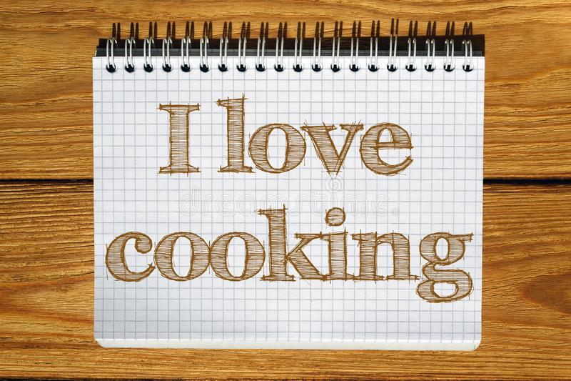 Złożony wizerunek obraz cyfrowy kocham kulinarnego tekst ilustracji