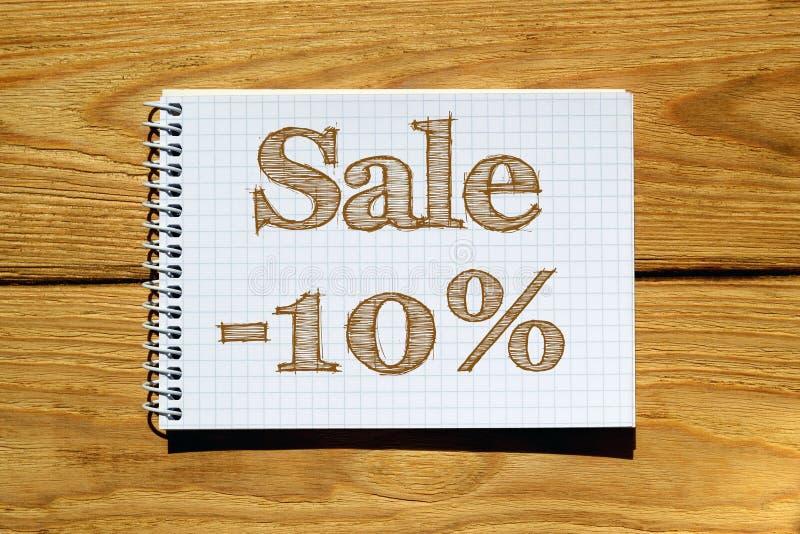 Złożony wizerunek obraz cyfrowy sprzedaż -10 percen ilustracja wektor