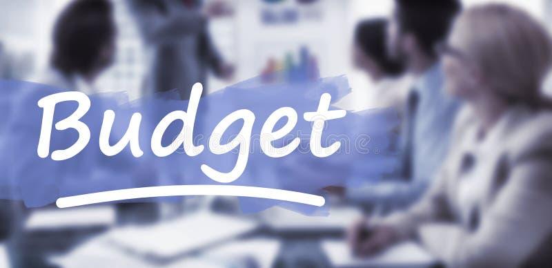 Złożony wizerunek podkreślający słowo budżet obrazy royalty free