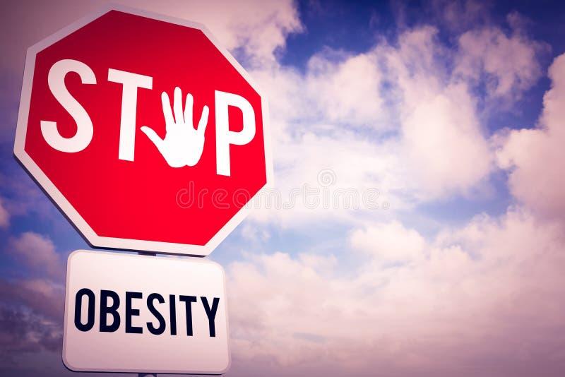 Złożony wizerunek przerwy otyłość ilustracja wektor