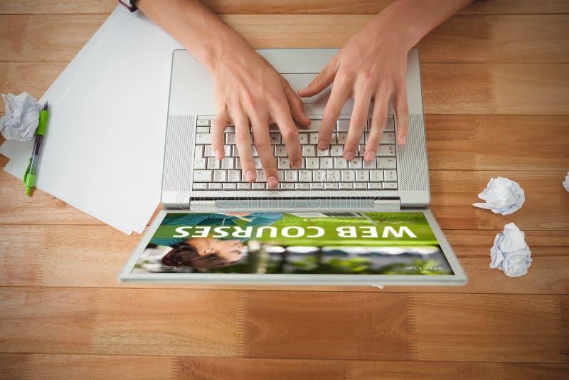 Złożony wizerunek sieć kursu reklama obraz royalty free