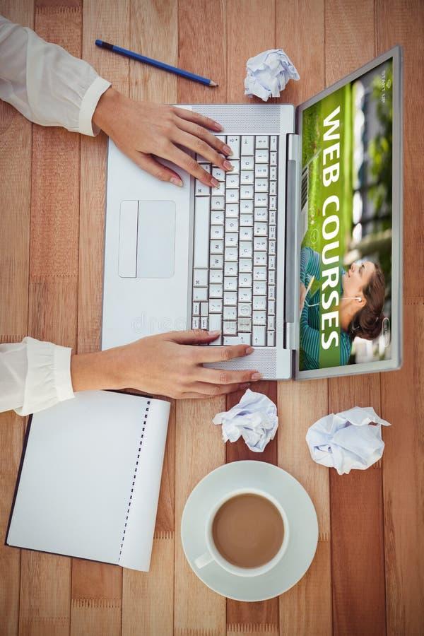 Złożony wizerunek sieć kursu reklama obrazy stock