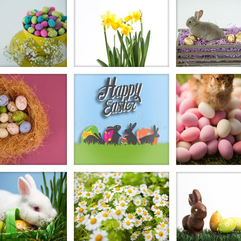 Złożony wizerunek szczęśliwy Easter fotografia stock
