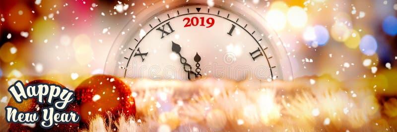 Złożony wizerunek szczęśliwy nowy rok royalty ilustracja
