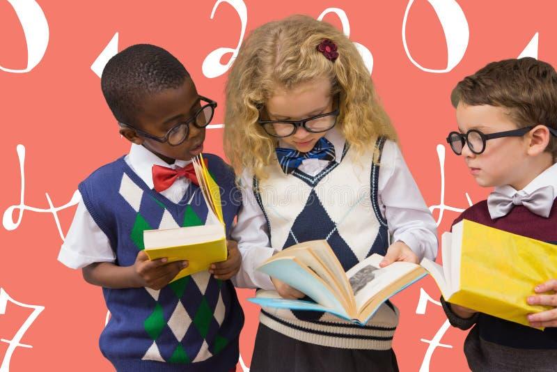 Złożony wizerunek szkolni dzieciaki zdjęcia stock