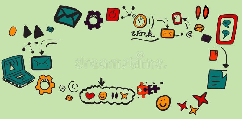 Złożony wizerunek złożony wizerunek ogólnospołeczni medialni symbole ilustracja wektor