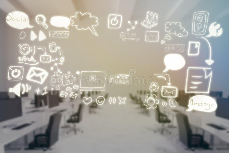Złożony wizerunek złożony wizerunek różnorodne medialne ikony 3d ilustracja wektor
