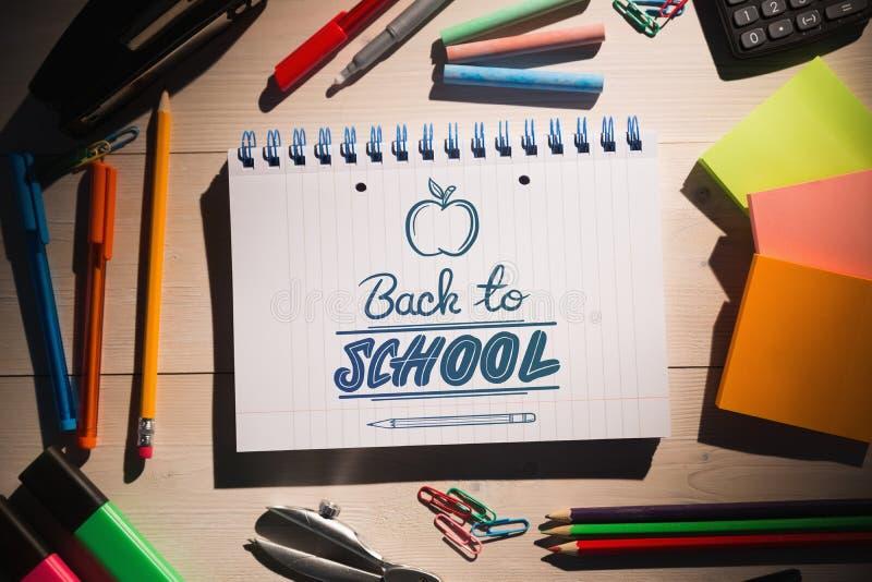 Złożony wizerunek z powrotem szkoła zdjęcia stock
