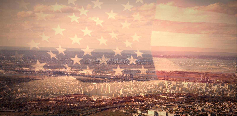 Złożony wizerunek zlani stany America flaga royalty ilustracja