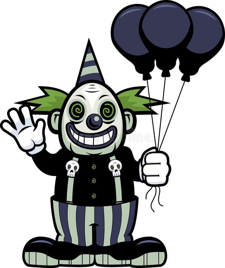 zło klaunów ilustracja wektor
