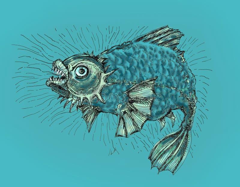zło ryba ilustracji