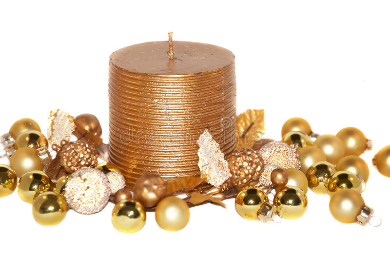 złociści świeczek boże narodzenia zdjęcia stock