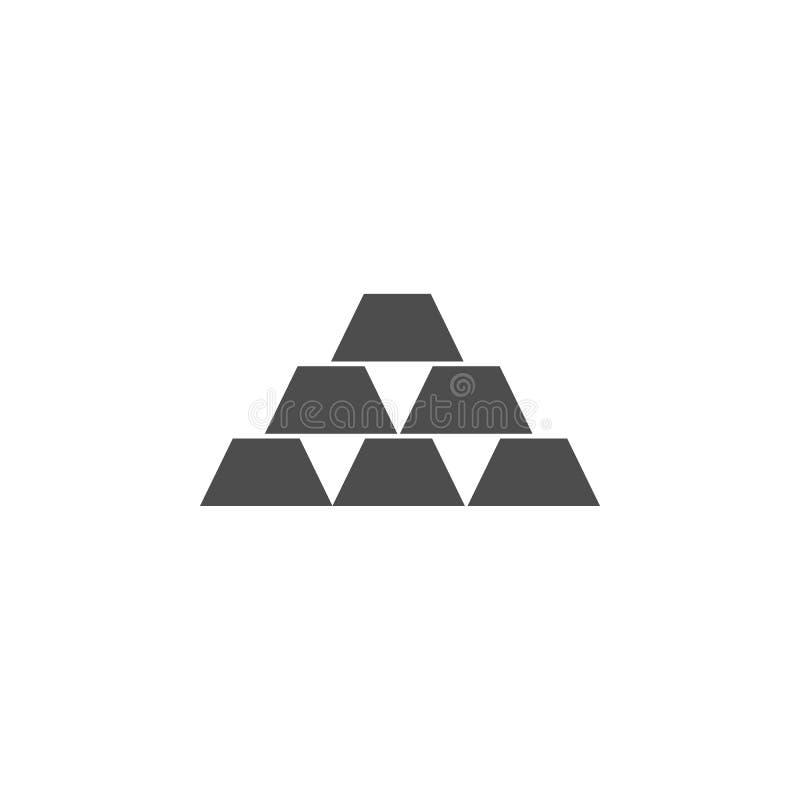 złociści bary ikona Elementy sieci ikona Premii ilości graficznego projekta ikona Znaki i symbol inkasowa ikona dla stron interne ilustracja wektor