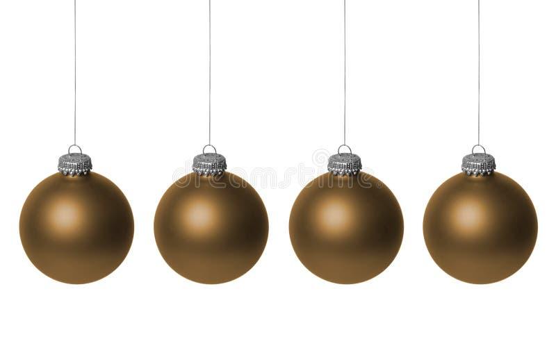 złociści baubles boże narodzenia zdjęcie royalty free