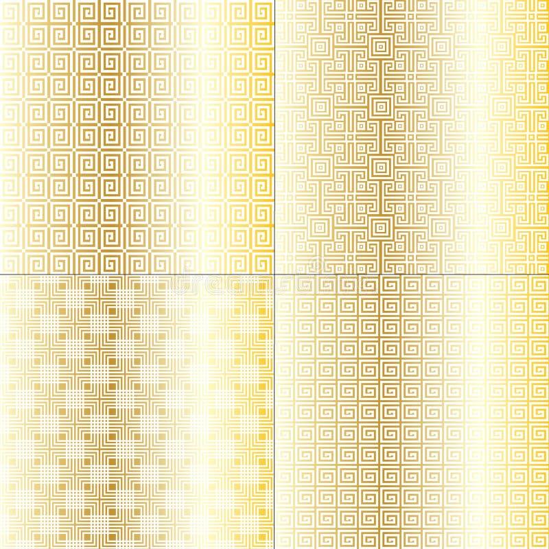 Złociści Fretwork wzory royalty ilustracja