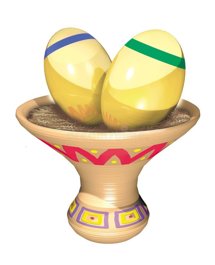 Złociści jajka ilustracji