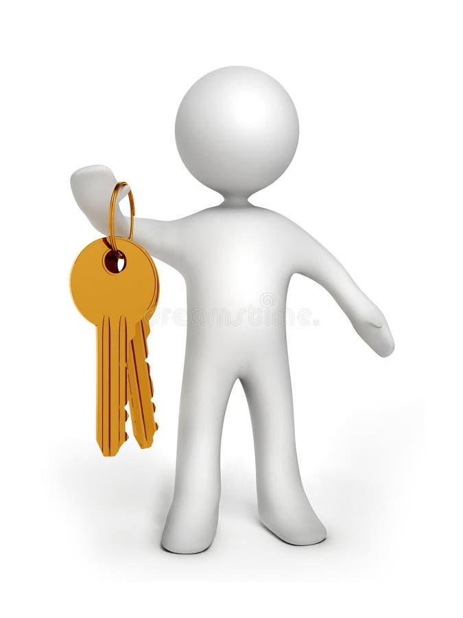 złociści klucze ilustracja wektor