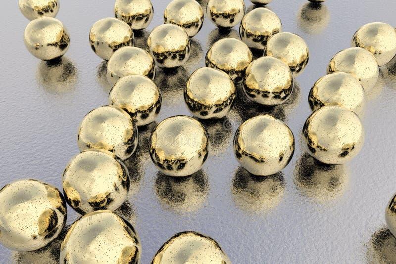 Złociści nanoparticles ilustracyjni ilustracja wektor