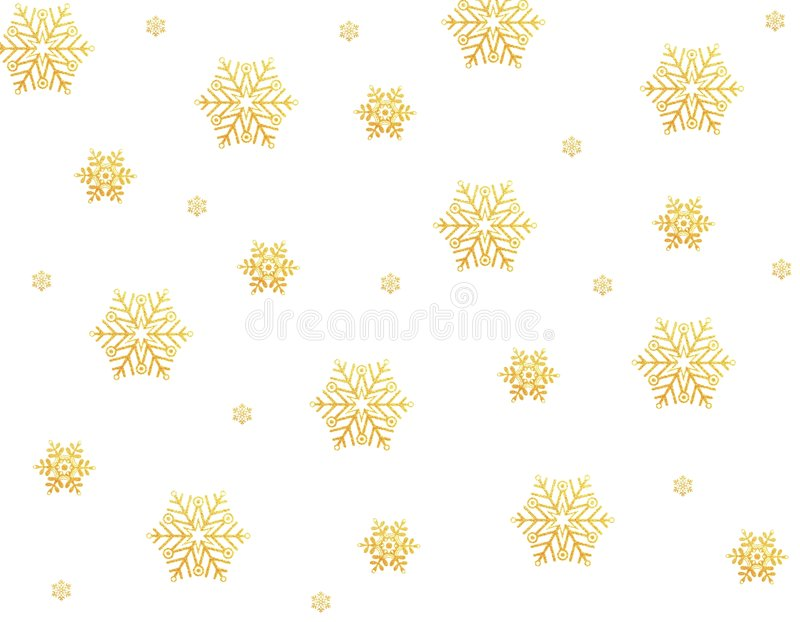 złociści płatek śniegu ilustracja wektor