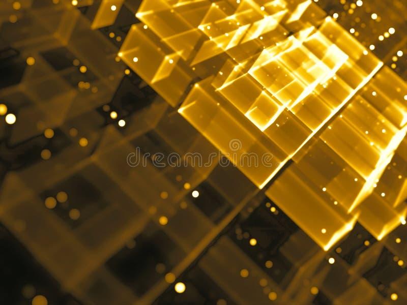 Złoci bary - abstrakta cyfrowo wytwarzający wizerunek ilustracji