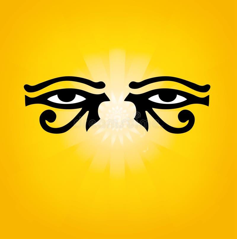 Złoci horus akademii królewskich oczy ilustracja wektor