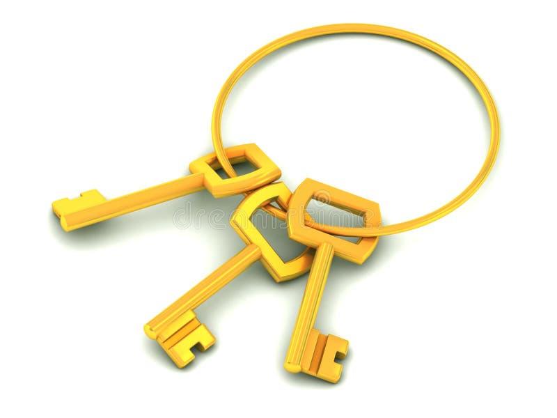 złoci klucze royalty ilustracja