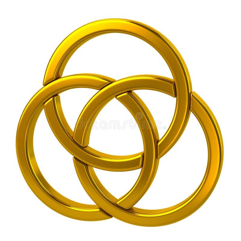 złoci pierścionki trzy royalty ilustracja